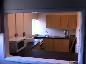 Scout headquarters - kitchen area