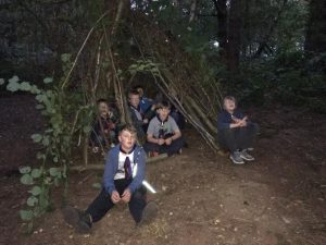 Den building in the night